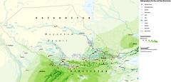 Hydrography in the Chu and Talas River basins (Zoi Environment Network) Tags: lake snow water rain river canal desert map border basin reservoir glacier environment marsh annual geography chu centralasia kazakhstan kyrgyzstan meteorology sampling precipitation hydrology cropland talas hydrography riverbasin muyunkum