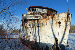 z2c (canadianlookin) Tags: boat rust ship rusty manitoba cruiseship redriver slough selkirk relic mslordselkirkii