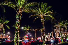 Still there (Melissa Maples) Tags: trees winter decorations night turkey dark lights nikon asia trkiye shoppingcentre palmtrees antalya snowmen nikkor vr afs  avm migros 18200mm  f3556g  18200mmf3556g d5100 5mmigros