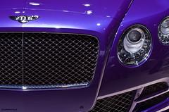 Bentley Continental GTC Speed (jasonroweart) Tags: auto show england jason hot car speed hall model purple pentax michigan metallic north detroit azure fast continental convertible automotive international american production british gt luxury fastest bentley rowe naias cobo gtc 2015 k5iis jasonroweart