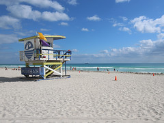 lifeguard stand - miami beach (Emmanuel Catteau photography) Tags: travel blue sea sun house tower beach water america stand sand holidays florida miami turquoise south united lifeguard national journey planet conde lonely states geo geographic nast traveler