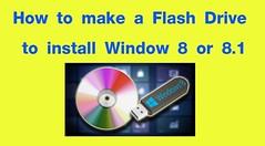 วิธีการสร้าง USB Flash Drive เพื่อติดตั้ง Windows 8 หรือ 8.1