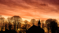 Sunset on St Thomas Church (S.R.Murphy) Tags: trees sunset sky cloud sun church skyline architecture clouds landscape evening sony silouette serene stthomas barnsley gawber barugh nex6 nikcolourefexpro4 sigmae30mmf28 sonynex6 february2015 feb2015