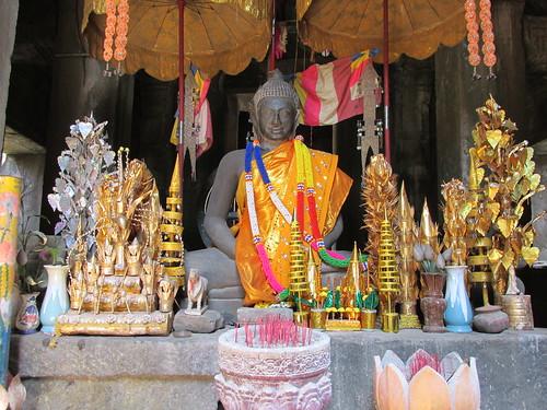 Intérieur d'un temple, Cambodge