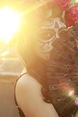 (Farshyn) Tags: flowers sunset dead mexico skull golden la day muerte hour catrina calavera