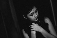 Aliza (KevinTamasiro) Tags: white black photography 50mm kevin philippines summicron portraiture manila fujifilm aliza jimenez xe1 tamasiro