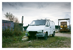 End of Life (Wil Wardle) Tags: england green ford canon photography fishing britain british hastings f28 westhill workhorse fordtransit adobelightroom fishingbeach vanlife 5dmk3 wilwardle hastingsfishingbeach ebphoto exploringtheautomobile carportraiture canonef2470mmmk2 workhorseseries