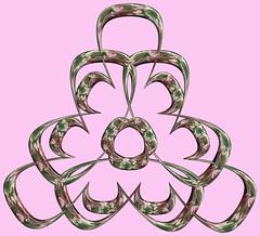 3 Tori /  (TANAKA Juuyoh ()) Tags: texture design 3d code cg pattern graphic structure symmetry figure program torus mapping algorithm mathematica   abstruct        parametricplot3d