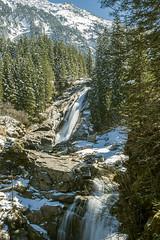 Krimml Waterfall, Austria (violinconcertono3) Tags: winter snow nature water rock vertical forest landscape austria daylight tirol