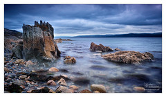 IMPRESSION NR. 18, ARRAN (vieribottazzini) Tags: sea castle art water stone clouds island scotland moody stones tide fineart fine isle arran
