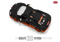 Bugatti Veyron Super Sport (1:15) (lego911) Tags: world auto records car sport vw volkswagen model break lego lets render ss go some super turbo record 88 bugatti coupe supercar challenge holder 115 cad w16 lugnuts 2010 veyron povray faster moc ldd hypercar lego911 letsgobreaksomerecords