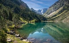 Gaube lake, French Pyrenees ((Virginie Le Carré)) Tags: summer lake reflection pine montagne landscape lac été paysage reflets montain pyrenees sapin pyrénées