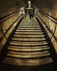 The Stairwell. (Suggsy69) Tags: london texture stairs dark nikon tube steps stairwell fisheye londonunderground 8mm dingy kennington fisheyelens d5100