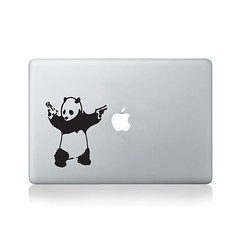 Banksy Panda Vinyl Decal for Macbook (13/15), Laptop or Guitar (vinylrevolutionltd) Tags: street art graffiti stencil sticker panda guitar laptop vinyl banksy guns decal iconic macbook