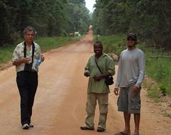 Peter, Wally Prince, and Sebastian De Freitas in Iwokrama