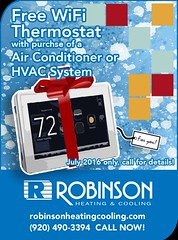 robinson-heating-cooling-free-thermostat-website-ad (Robinson HVAC) Tags: quality air july free wifi heating robinson thermostat cooling