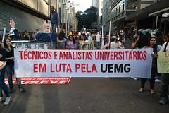 """Ato """"Negocia, Pimentel"""" - 13 de Julho (casadeespelho) Tags: greve professores universidades uemg unimontes aduemg"""