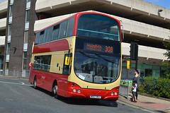 First Volvo B9TL 37300 MX07BUJ - Huddersfield (dwb transport photos) Tags: first volvo wright eclipse gemini bus decker 37300 mx07buj huddersfieldcorporationlivery huddersfield