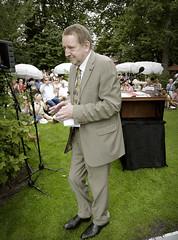 Jean Pierre Rawie op het theeveld