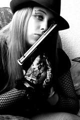 Gangster Gun Girl SEXY! (A Gun & A Girl.) Tags: guns girls muscles arms shootingguns hotguns gunshotwounds blood gettingshot sexygirls hotgirls girlsshootingguns girlsgettingshotwithaguns girlswithguns
