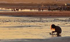 (Aqu y ahora.) Tags: portrait retrato stranger girl nia beach playa algarve portugal sunset colorful color love cute