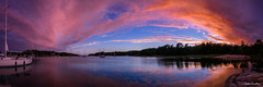 Harbour in the nature (Jukka Sundberg) Tags: panorama sailing panoramic nature sunset colours colourful absolutelystunningscapes veneily boating2016