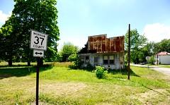 Roadside RT. 37 Morrow County, Ohio, USA (arnolddesena) Tags: abandoned rural outskirts farm summer ohio