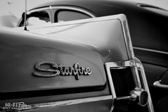 Part Star, Part Fire (Hi-Fi Fotos) Tags: blackandwhite bw vintage emblem logo mono nikon classiccar gm dynamic super chrome american badge starfire 1960s 88 olds oldsmobile secondgeneration hydramatic d5000 hallewell hififotos