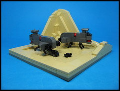 Slimliners (Karf Oohlu) Tags: lego moc vignette microscale troopship assaultcarrier slimline afvmicroscale afv