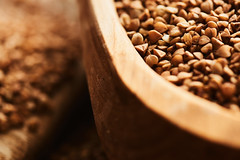 Buckwheat close up. (ivankislitsin) Tags: closeup breakfast dinner foods cereal culture crop meal diet agriculture cereals groats buckwheat kernel ingredient nourishment kasha dietary