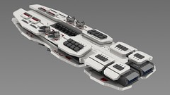 vesta2 (essaych) Tags: lego spaceship spacecraft battleship render homeworld space