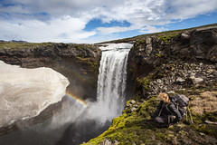 On the Fimmvrduhls Hike (JoshyWindsor) Tags: iceland hike michellewindsor fimmvrduhls waterfall travel canonef1740mmf4l moss tramping rainbow canoneos6d europe holiday landscape