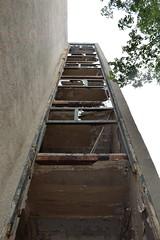 Gutted staircase (baurichter) Tags: berlin monument concrete plattenbau ddr derelict gdr urbanexploring urbex wollenbergerstrasse