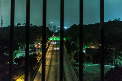 () Tags: los angeles neon city night street photography freeway green