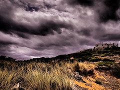House on the hill (John Kerridge) Tags: menorca house hill clouds stark