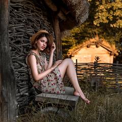 Sunset in the village (dantar90) Tags: girl model portrait conceptual color summer sunset art nikon d610 50mm dantar90 begmad bestphoto