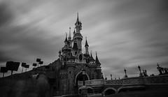 Sleeping Beauty Castle (Trigger1980) Tags: castle sleeping beauty walt disney fantasyland disneyland park paris le château de la belle au bois dormant d7000 dark digital day nikon nikond7000 nite night ngc nikonflickraward nuts long exposure water sky mickey mouse