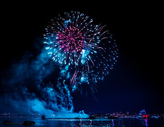 Disney Monster (Cannon Taylor Photos) Tags: fireworks disney monster light night sky celebration vancouver englishbay stanleypark bluehour blue cannontaylorphotography canon 5ds