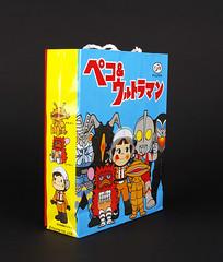 Ultraman Variety Snack Bag (TOKYO TAG TEAM) Tags: fujiya sukiyabashi pekochan variety snack bag ultraman candy cookies japan ginza kaiju mephilas zetton kanegon ultra hero monster pigmon