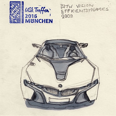 BMW Vision Efficient Dynamics (Namtra) Tags: arnohartmann uskgermany urbansketchers mnchen urbansketch uskdeutschlandtreffenmnchen2016 marker copicmarkers copicmarker bleistiftzeichnung bleistift bleistiftundmarker bmwmuseum bmw prototyp