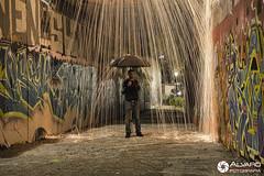 Lluvia cida III (lvaro (Photographer & Graphic Designer)) Tags: larga exposicin long expo longexpo noche night nocturna madrid lana acero steel wal whall fire ciudad city grafitti hormign calle street