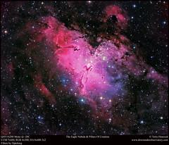 The Eagle Nebula & Pillars Of Creation (Terry Hancock www.downunderobservatory.com) Tags: sky space astronomy astrophotography astroimaging m16 eaglenebula pillarsofcreation