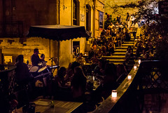 Friday night Bridge jazz bar, Valletta (MixPix ) Tags: modern jazz valletta malta bar wine candles summer night steps cafe