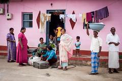 Village people (Scalino) Tags: india karnataka tourism belur halebid halebeed halebeedu hoysala pink people village local old