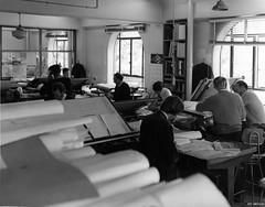 Architect & Design Department offices, 1971 (Dunedin City Council Archives) Tags: dunedin municipal muncipalchambers staff historic
