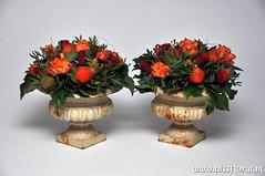 Zomaar #Samen... (floralworkshops) Tags: lampion roos sokkel