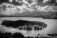 The Island (teogou) Tags: clouds sky lake island ioannina