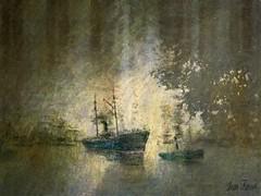 L'Estuaire (jeanfenechpictures) Tags: port bateau boat mer sea texture dessin draw sortie exit estuaire estuary