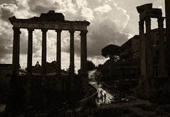 Rome,  the Grand Tour (Robert Barone) Tags: italia italy micro43 panasonicgm1 roma rome thegrandtour commute blackandwhite sepia fragmentsofempire ancientrome