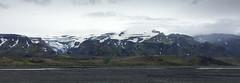 Panoramic view of the glacier Eyjafjallajkull (Rita Willaert) Tags: kloof eyjafjallajkull myrdalsjkull hellisholar markarfljot innriemstruariver homsarivier eyjafjallajkull myrdalsjkull suurland ijsland is